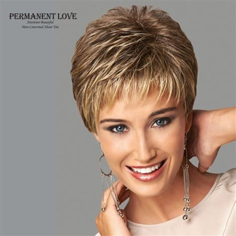 fake hair highlights for pixie cuts womens synthetic short wigs pixie cut hairstyle blonde