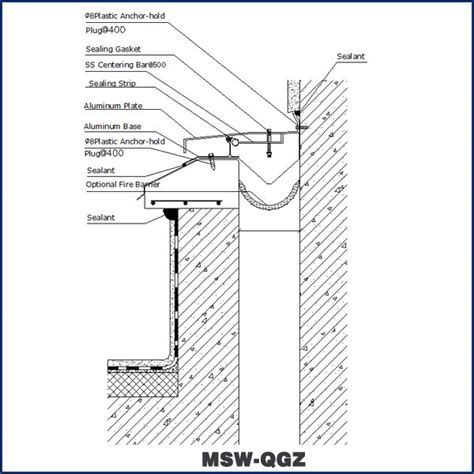 Meishuo Building Roof Expansion Joint Cover (MSW QGZ