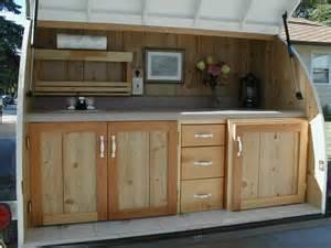 Camper Trailer Kitchen Designs by Custom Built Kitchen In A Teardrop Trailer Ruggedthug