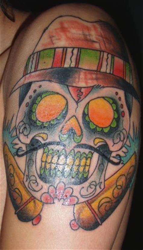 mexikanische tattoos skelette und schaedel