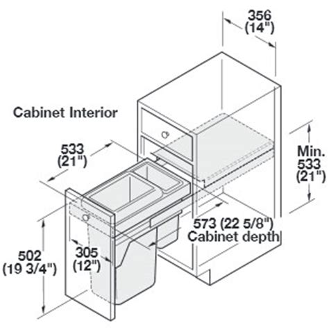 trash can cabinet size waste basket cabinet dimensions cabinets matttroy