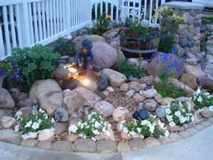 Small Rocks For Garden Rock Garden With Small Hypertufa Rocks I Made Border The Curved Sidewalk The Others