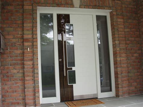contemporary front doors with sidelights exterior door model a250 with two sidelights