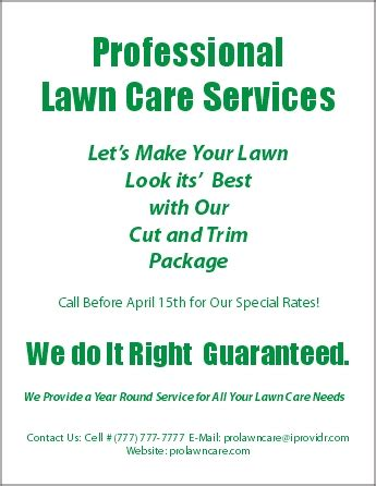 lawn care business flyer