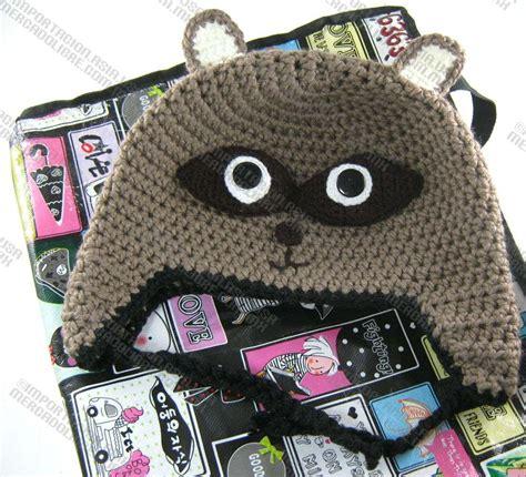 imagenes de gorros de animales gorras mapache tejidas estambre crochet para adulto y beb 233