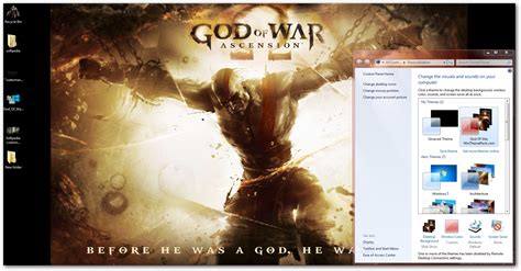 new god themes download god of war windows theme download
