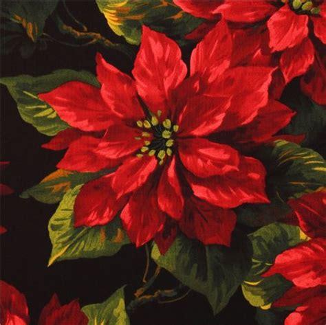 Wallpaper Black Flower 5m michael miller fabric scarlet poinsettia