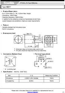 100mh inductor datasheet mg811 datasheet ift coils