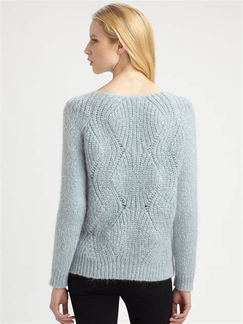 Sweater Air surface to air mohair sweater in blue lyst