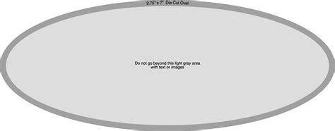 2 75 Quot X 7 Quot Oval Sticker Artwork Template Oval Sticker Template