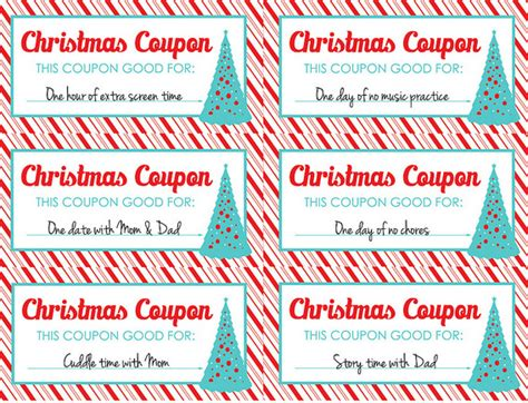 Printable Christmas Coupon Template Search Results