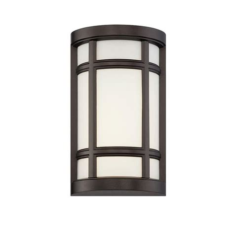 Led Outdoor Wall Sconce Designers Logan Square Burnished Bronze Interior Outdoor Led Wall Sconce Led33821 Bnb