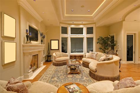 the living room s large windows cream and aqua color 50 elegant living rooms beautiful decorating designs