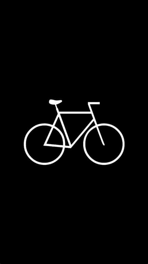 Hipster Bicycle Dark Flat Android Wallpaper free download