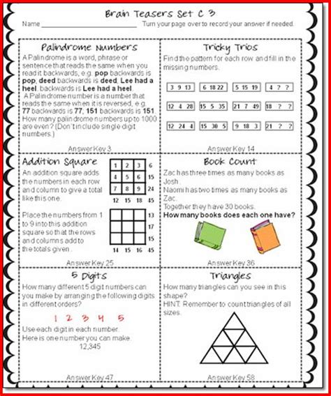 printable logic puzzles for grade 5 christmas brain teasers for 5th graders printable