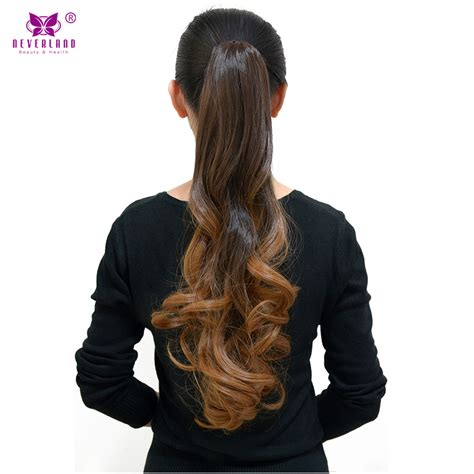 Hairclip Ombre Curlyponytailwig neverland wavy claw ponytail hairpiece extension ombre color wigs pony 20 quot clip in