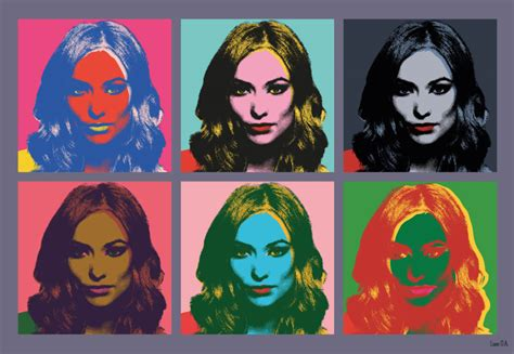 andy warhol style wilde portrait pop andy warhol style by
