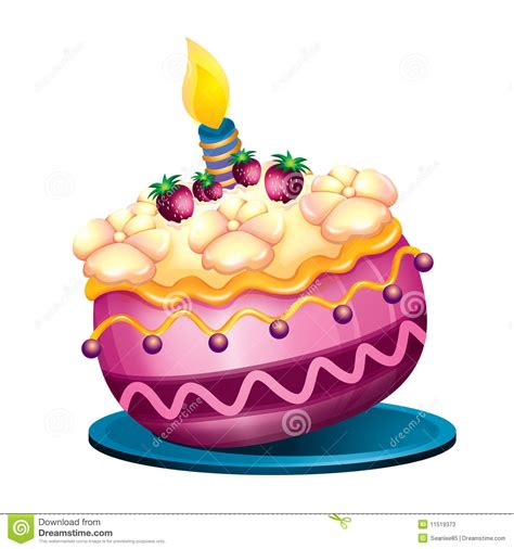 imagenes feliz cumpleaños tortas torta de cumplea 241 os ilustraci 243 n del vector imagen de