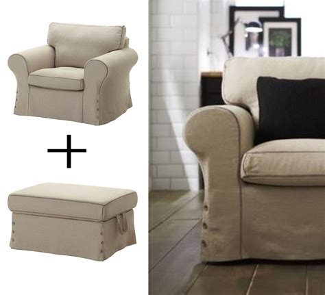 armchair and ottoman slipcovers ikea ektorp armchair and footstool ottoman covers chair