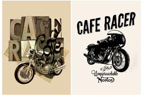 Poster Bingkau Kayu Cafe Racer 6 vintage motorcycle posters graphics on creative market