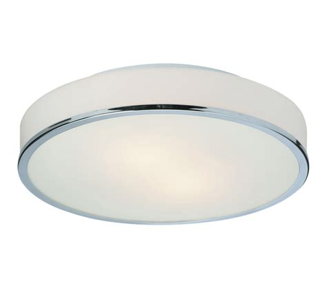 chrome and opal glass flush fitting bathroom ceiling light ip44 firstlight profile flush fitting ceiling light chrome finish with opal glass 5756ch