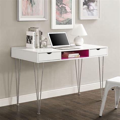 Walker Edison Computer Desk In Hot Pink D48ca1pk Pink Desk L