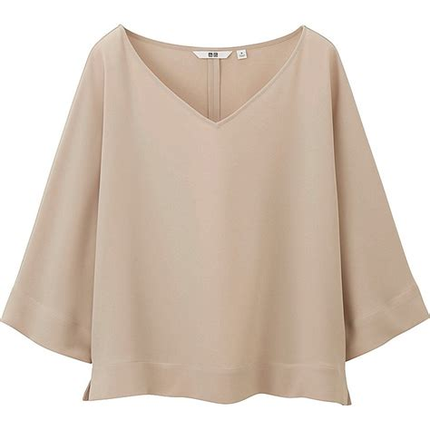 Uniqlo Formal Shirt drape 3 4 sleeve blouse uniqlo and fashion