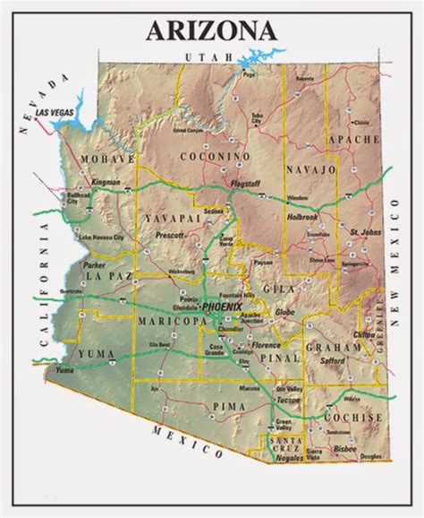 printable map arizona printable us state maps free printable maps