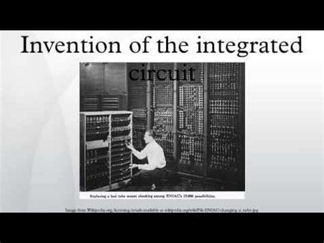 the inventor of the integrated circuit invention of the integrated circuit
