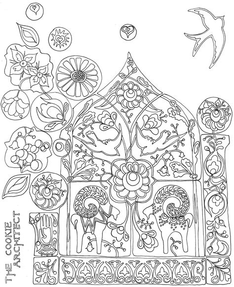 Folk Art Coloring Pages Chuckbutt Com Folk Coloring Pages