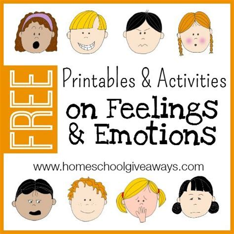 emotional themes in stories free printables and activities on feelings and emotions