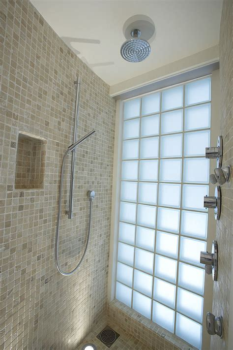 glass block showers small bathrooms decoration ideas perfect fixed round chrome shower with