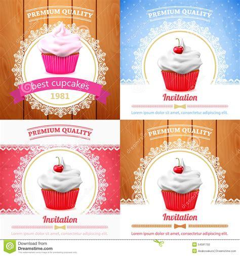 vector cupcake banner stock vector image 54581750