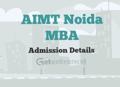 Tkm Mba Admission 2017 by Aimt Noida Mba Admission 2017 2018 Getentrance