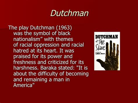 Dutchman Play Essays by Black Arts Era