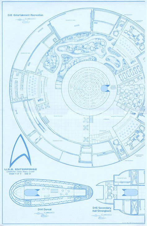 uss enterprise floor plan star trek blueprints uss enterprise 15mm fasa deck plans