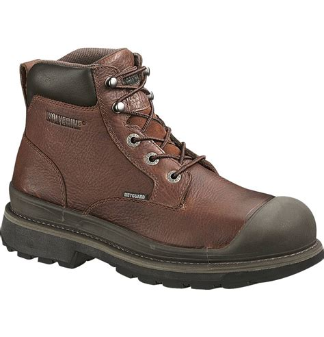 steel toe work boots wolverine lawson 6 inch steel toe work boot w04659