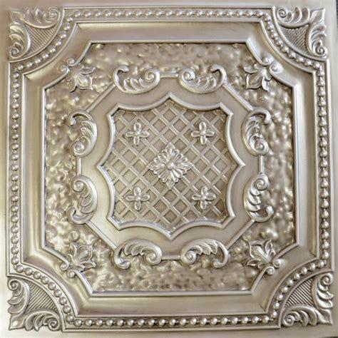 tin ceiling tile dct 04 antique white faux tin ceiling tile 24x24 ceiling