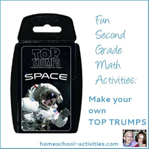 make your own top trumps cards second grade math activities make your own card