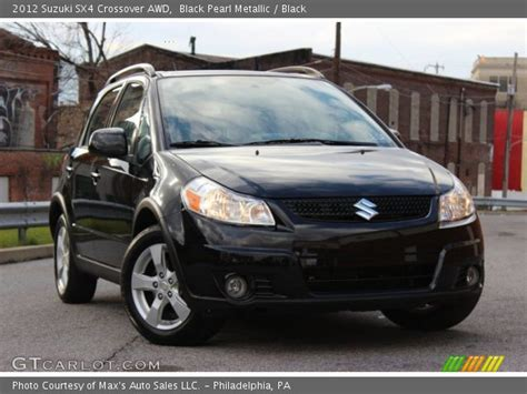 Suzuki Sx4 Black Black Pearl Metallic 2012 Suzuki Sx4 Crossover Awd