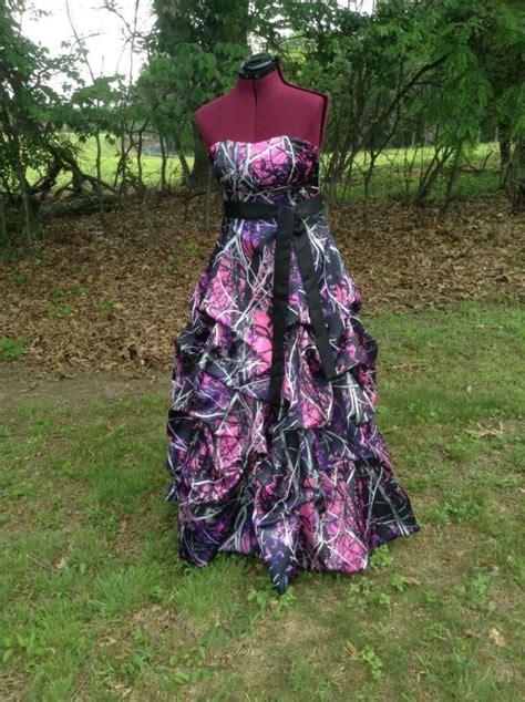purple muddy camo muddy camo dress gown with up skirt design