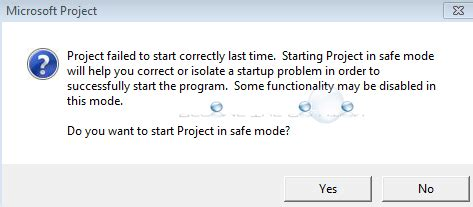 fix: project failed to start correctly last time.