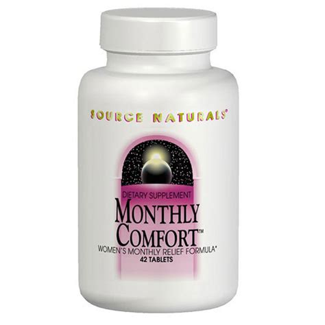 comfort source monthly comfort pms relief 90 tabs from source naturals