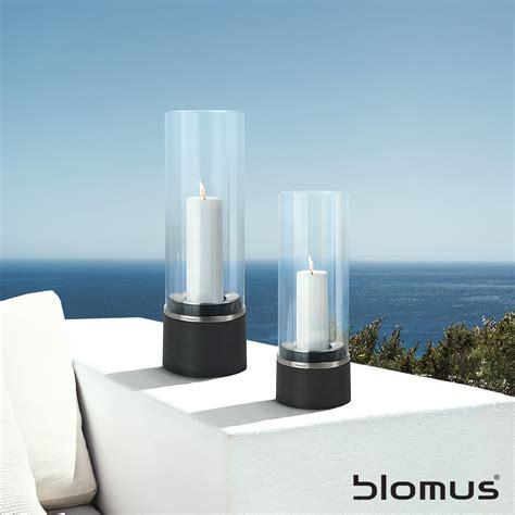 Outdoor Hurricane Candle Holders Blomus Piedra Hurricane Candle Holder Small And Large