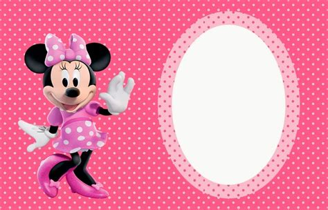 printable birthday cards minnie mouse minnie mouse in pink free printable invitations labels