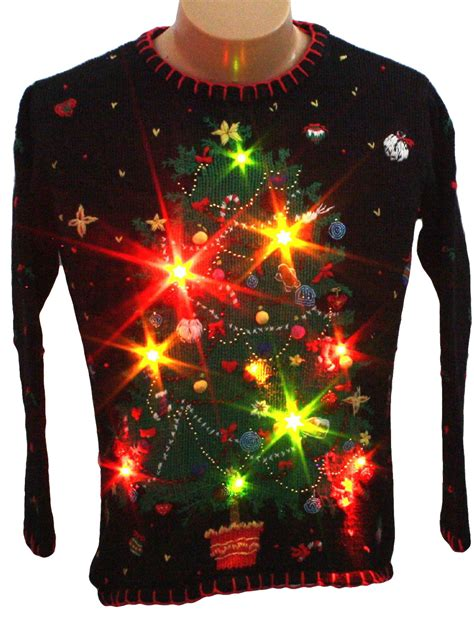 sweaters with lights tree lights vintage light up