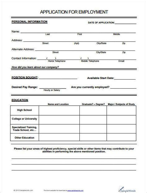 creative request form template 190 application form sle exle format