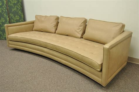 curved leather sofas for sale long curved harvey probber button tufted leather mid