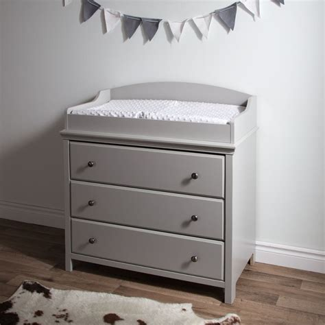 Gray Changing Table Cotton Candy Soft Gray Changing Table