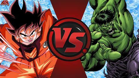 imagenes de goku vs hulk goku vs hulk dragon ball z vs marvel cfc episode 187